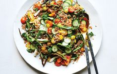 Salty, crunchy, and herbaceous—a perfect side dish for grilled meats or fish.