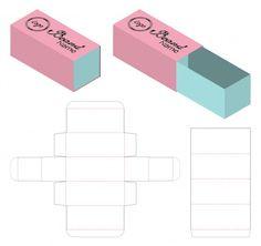 Box packaging die cut template for print Paper Box Template, Flyer Template, Origami Templates, Box Templates, Box Template Printable, Diy Gift Box, Diy Box, Gift Boxes, Box Packaging