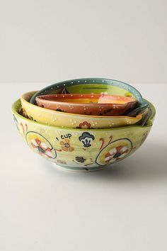 Possibly the most beautiful measuring cups ever. Completely unnecessary.. and amazing. Izmir Measuring Cups #anthropologie