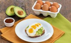 Open-Faced Egg Sandwich With Hummus and Avocado