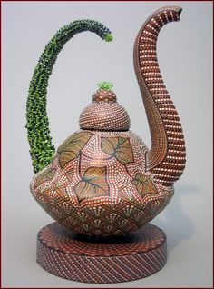 Ricky Maldonado Low Fire Terra Cotta, Glaze, Crystal & Beads