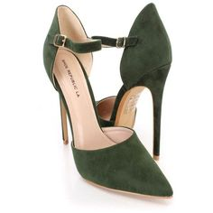 1f90a64586cb These sexy and stylish single sole heels feature a faux suede upper with an  ankle strap and side buckle closure