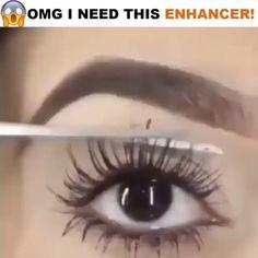 #DiyEyeCream Applying False Eyelashes, Applying Eye Makeup, Eyebrow Makeup, Beauty Makeup, Beautiful Eyelashes, Natural Eyelashes, Longer Eyelashes, Long Lashes, Mascara
