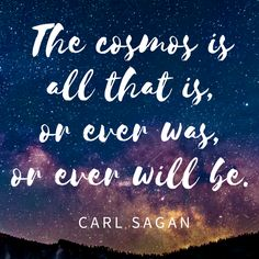 Great quote from Carl Sagan #cosmos #quote