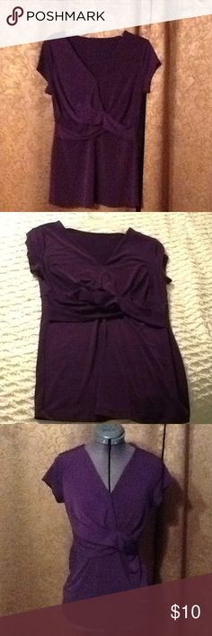 TOP EUC...Stretchy....color is eggplant..... unknown Tops Blouses