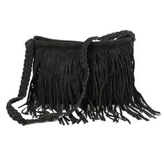 Celebrity Fringe Tassel Faux Suede Shoulder Messenger Cross Body Tote  Handbag Nicky s Gift 67254efbacb6d