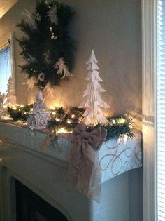 {Christmas mantel makeover}