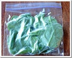 Freeze spinach and use in smoothies.