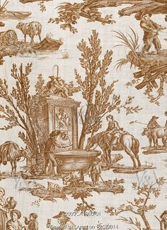 The Drinking Trough, detail, by Jean-Baptiste Huet. Jouy-en-Josas, France, late 18th century