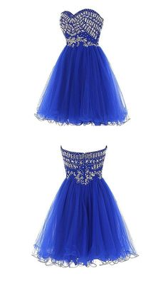 Sweetheart Cute Party Dresses,A-line Party Dresses,Tulle Party Dresses,Beading Party Dresses,Short Party Dresses This dress could be custom made, there are no extra cost to do custom size and color. D