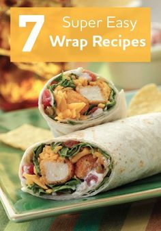 Try a few of our tasty wrap recipes. They are the perfect meal!