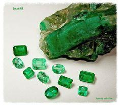Gems and Mineral Emerald Gemstone, Emerald Jewelry, Minerals And Gemstones, Rocks And Minerals, Cool Rocks, Rocks And Gems, Stones And Crystals, Gem Stones, Fossils
