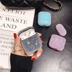 Glitter Bling Case for Airpod Casees Earphone Headset Accessories Plain Hard PC Case for Airpods Wireless Bluetooth Headset Bags Cute Ipod Cases, Pc Cases, Iphone Cases, Apple Watch Band, Watch Bands, Fone Apple, Accessoires Iphone, Earphone Case, Air Pods