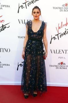 Olivia Palermo.. wearing variation of the Fall 2016 Valentino Dress..... - Celebrity Fashion Trends