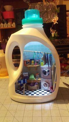 Cardboard Dollhouse Cardboard Toys Diy Dollhouse Creative Teaching Creative Kids Teaching Art Compass Art Kids Doll House Diy Y Manualidades Miniature Rooms, Miniature Crafts, Miniature Houses, Miniature Kitchen, Miniature Furniture, Cute Crafts, Diy And Crafts, Crafts For Kids, Recycled Crafts