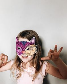 Halloween Mask Printables. Print and color in these masks to make them your own. Finish with a popsicle stick or string for a quick Halloween costume for kids. #Halloween #Costume #DIY