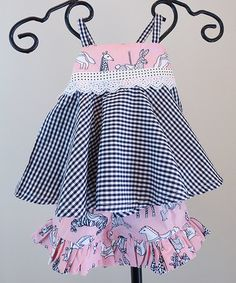 Another great find on #zulily! Pink Carousel Tank & Ruffle Shorts - Infant & Toddler #zulilyfinds