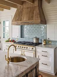 kitchen hood ideas: wood range hood vent hood cover coastal farmhouse kitchen by dearborn builders
