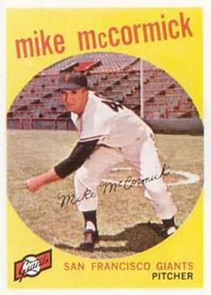 1959 Topps #148 Mike McCormick Front