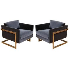 Antique and Vintage Chairs, Sofas and Seating - For Sale at - Page 8 Floating Lounge Chairs, Fire Pit Table And Chairs, Furniture Decor, Furniture Design, Grey Sectional Sofa, Round Storage Ottoman, Armchairs For Sale, Fabric Armchairs, Luxury Chairs