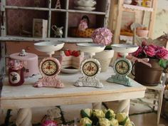 Dollhouse Miniature Shabby Chic Metal Vintage by IttyBittyAndCute