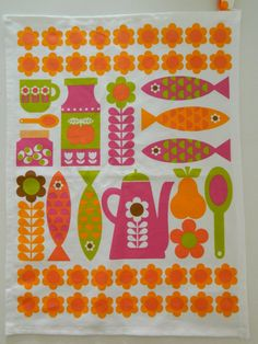 Scandi Kitchen Small Teatowel - Pink #scandi - #teatowel