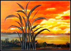 Copy Landscape www.rebecaroman.com Beautiful Landscape Paintings, Diy Furniture, Sky, Draw, Pintura, Heaven, Heavens, To Draw, Sketches