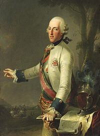 Prince Albert Casimir August of Saxony, Duke of Teschen (11 July 1738, Moritzburg near Dresden – 10 February 1822, Vienna) was a German prince from the House of Wettin who married into the Habsburg imperial family. He noted as an art collector and founded the Albertina in Vienna, the largest and finest collection of old master prints and drawings in the world.