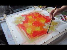 Мастер-класс по горячему батику, роспись шёлкового платка. Batik, hot wax