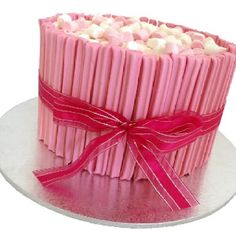 Girl's Birthday Cake - cute - and seems relatively easy