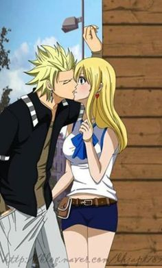 Sting Eucliffe and Lucy Heartfilia Kiss
