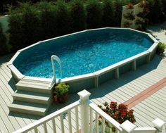 Above Ground Pool Deck Ideas Ornamental Trees