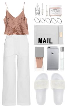 """""""WHITE X PINK TONES"""" by mimiih ❤ liked on Polyvore featuring M.i.h Jeans, Givenchy, Giorgio Armani, Marlo Laz, Akira, ASOS and Herbivore Botanicals"""