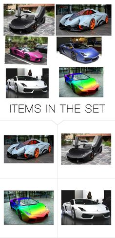 """Awesome super cars #1 Lambo edition"" by oregester ❤ liked on Polyvore featuring art"