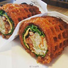 Chic韓風:✤ Chic Foodie ✤ ∷用華夫餅裹著拌飯這樣... - 微博精選 - 微博台灣站