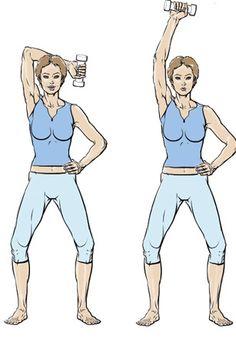 5 exercices pour muscler ses bras - Exercice 1 : l'ensemble des bras - Femme Actuelle                                                                                                                                                      Plus