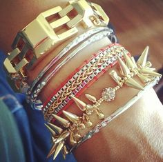 How gorgeous is this layered wrist?!