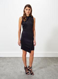 Photo 2 of Twist Front Scuba Dress