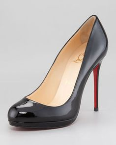 Christian Louboutin Filo Patent Leather Platform Red Sole Pump