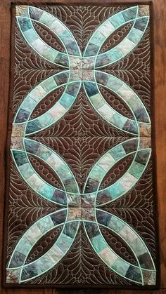 Muster-Doppelringdecke - My Quilt Ideas Double Wedding Rings, Wedding Ring Bands, Double Ring, Double Wedding Ring Quilts, Wedding Quilts, Quilting Projects, Quilting Designs, Quilted Table Runners, Quilt Stitching