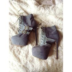"""Stiletto booties Grey faux suede, lace up booties. The light grey is a faux snake skin accented by gold buckles and grommets. These puppies are sexy! 2.5"""" platform and a 6"""" heel. Worn forgoing out just twice! In perfect condition. Size 7 and true to size. Sophia & Lee Shoes Ankle Boots & Booties"""