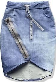 Znalezione obrazy dla zapytania szare spódnice jeans