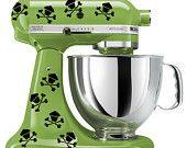 KitchenAid mixer art, Hibiscus flower decal. $9.99, via Etsy.