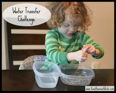Water Transfer Challenge | Fun at Home with Kids
