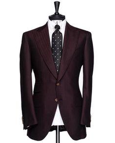 Antar Levar Bespoke Midnight Maroon Herringbone Suit Made w/ Holland & Sherry Cloth! Herringbone Patters Are Always an Elegant Timeless Choice! #keepwinning #antarlevar #handmade #godisgood #grateful
