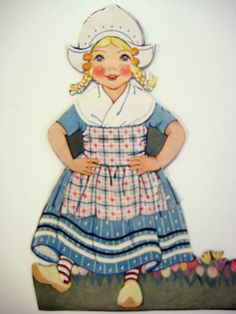 Dutch girl paper doll - Better Homes and Gardens.
