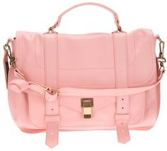 Pink Leather Satchel Bag by Proenza Schouler. Buy for $2,094 from farfetch.com