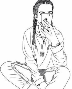 Images and videos of swagg Tumblr Girl Drawing, Tumblr Sketches, Girl Drawing Sketches, Girl Sketch, Sketch Art, Best Friend Drawings, Girly Drawings, Outline Drawings, Pencil Art Drawings