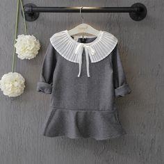$14.90 (Buy here: https://alitems.com/g/1e8d114494ebda23ff8b16525dc3e8/?i=5&ulp=https%3A%2F%2Fwww.aliexpress.com%2Fitem%2FNew-2016-Girls-Winter-Dress-Kids-Autumn-Dresses-Children-Cute-Dress-Girl-Overalls-Casual-turn-down%2F32718351172.html ) New 2016 Girls Winter Dress Kids Autumn Dresses Children Cute Dress Girl Overalls Casual turn down peter pan collar Tops Clothes for just $14.90