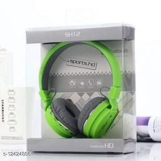 Wired Headphones & Earphones Editrix Sh12 Wireless Bluetooth Headset (Green) Product Name: Editrix Sh12 Wireless Bluetooth Headset (Green) Brand Name: Editrix Material: Plastic Product Type: Foldable over the head Type: Over The Ear Compatibility: All Smartphones Multipack: 1 Color: Green Mic: Yes Bluetooth Version: 4.1 Warranty_Period: 1 Month Brand Warranty Warranty_Type: Carry In Operating Voltage: 10 Volts Charging Type: Micro USB Battery Charge Time: 1 Hour Battery Backup: 6 Hours Frequency: 10 Hz Control Button: Yes Play Time: 10 Hours Dynamic Driver: 30 mm Transmission Distance: 10 Mtr Noise Cancelling: No Service Type: Repair or Replacement Sports Earphones: Yes Sweat Proof: Yes Water Resistant: No Sizes:  Free Size Country of Origin: India Sizes Available: Free Size   Catalog Rating: ★4 (3207)  Catalog Name: Editrix Bluetooth Headphones & Earphones CatalogID_2392796 C97-SC1375 Code: 894-12424886-0411